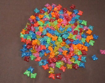 Bag of assorted translucent plastic beads