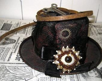 Handmade Steampunk mini hat