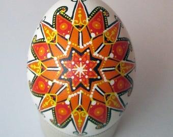 Traditional Ukrainian Easter egg.Handmade.Hand painted Easter eggs.Pysanka.Ukrainian real Easter eggs.Batic eggs.Chicken pysanka.