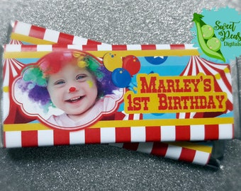 Circus Candy Bar Wrappers