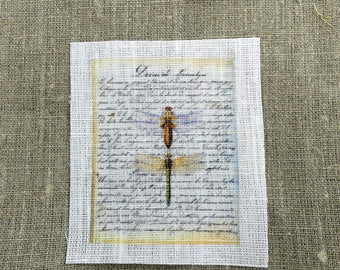 fabric sewing dragonfly