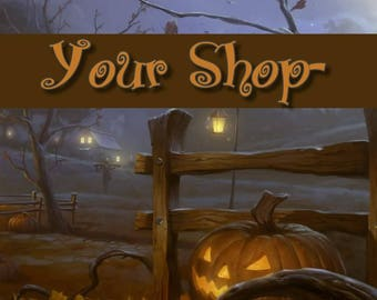 Shop Banner Set, Shop Banner, Shop Banner Design, Store Graphics, Halloween Graphics, Halloween Banner Set, Halloween Shop Set