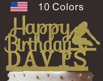 Personalized Happy Birthday Cake Topper, Custom Hurdles Cake Topper, Cardstock Cake Topper, Create Your Own! Custom Name, Any Name, PT007