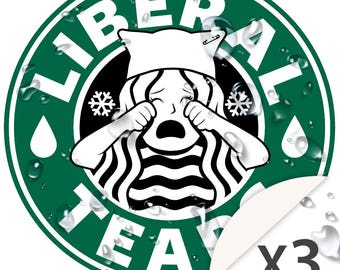 Liberal Tears SET OF 3 (3 inch) WeatherProof High Quality Vinyl Stickers.  In case you didn't hear yet, CNN is Fake News for Snowflakes