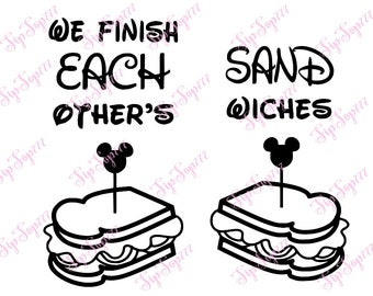 We finish each others sandwiches. Printable for shirt. Digital file PNG, JPG. Iron on Transfer. Instant Download. 62