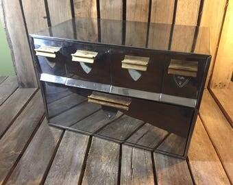 Chrome Bread Box with Compartments/Vintage Bread Box/Bread Box