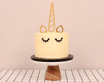Unicorn Cake Topper Set Lasercut Acrylic Lasercut Acrylic