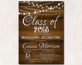 Graduation Celebration invitation, High School Graduation Invitation, College Graduation Party Invitation, Class of 2018 party - 1647