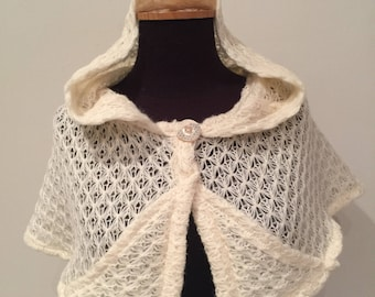 Snowflake hooded poncho