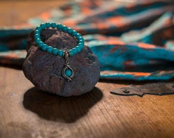 Turquoise serpent bracelet