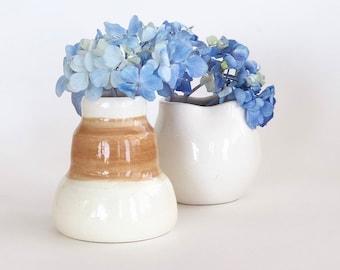 Mini Wheel Thrown Windowsill Vases