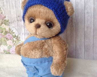 Teddy Bear brown soft plush hand made Atist Teddy made to order for you