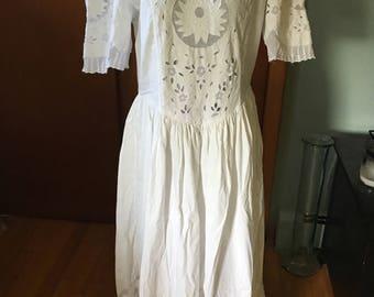 Vintage 1970's Boho Wedding Dress By Axiom