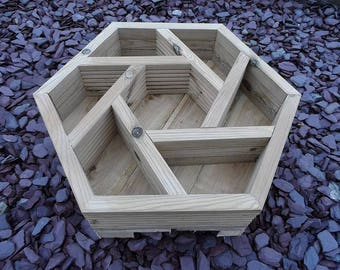 Hexagon Herb Wheel Decking Planter