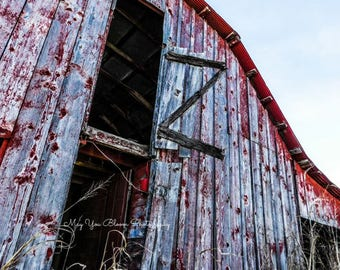 Red Barn Photography, Country Landscape, Instant Download, Old Red Barn Photo, Farm Decor, Rustic Wall Art, Farmhouse Decor, Red, Pictures