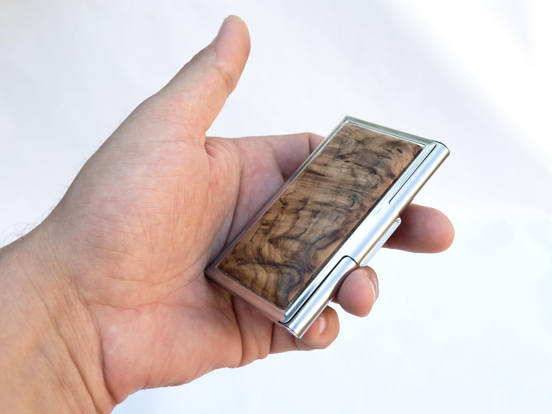 Personalized business card holder, Pocket business card holder ...