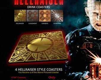 HELLRAISER 4 Coaster Set HELLRAISER Design