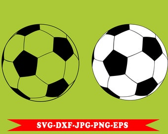 Soccer ball svg, svg in svg formats-eps 5 football-dxf-png-jpg. For Cricut, Silhouette, vinyl cutting machines, Cameo for embroidery.