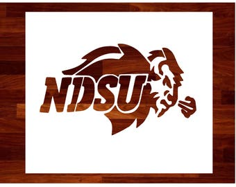 NDSU Bison Custom Stencil