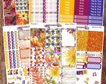 VERTICAL KIT, Harvest Wishes, Weekly Sticker Kit, Erin Condren, EC Vertical, Planner Stickers, Sticker Kit,