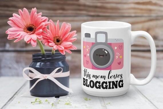 This Mom Loves Blogging Mug | Blogging Mug | Gift For Bloggers | Time to Blog | Blogging Day Mug | Blogger Coffee Mug | Blogger Gift
