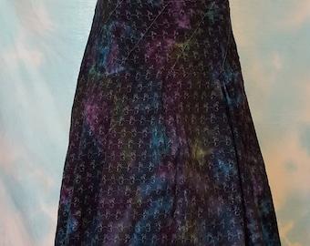 Tie Dye Upcycled Eyelet Skirt Size 6