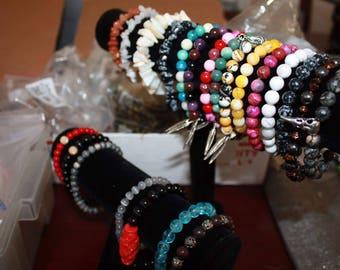 Custom bead bracelets 8mm-6mm