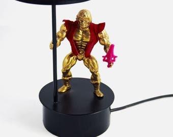 Very masculine lamp-24 carat gold
