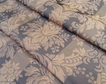 Great century damask fabric - Fabric Brown glossy - silk and cotton - silk fabric - fabric editor - Nadège fabric - sold by the yard