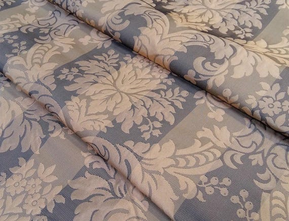 tissu damas grand si cle tissu marron glac tissu soie et. Black Bedroom Furniture Sets. Home Design Ideas