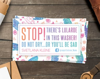 Boho Lula Washer Magnet, Free Personalized, LLR Do Not Dry Magnet, You'll Be Sad, Care Magnet, Business Cards Size, For lularoe Retailer