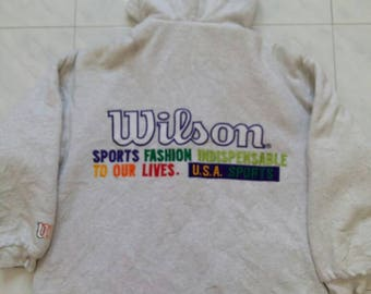 Wilson Sports Fashion Indispensable Zipper Jacket Full Embroidery With Hoodies