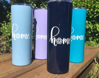 "Home Double-Walled Insulated Tumblers | Rochester, NY ""home"" 20oz metal tumbler"