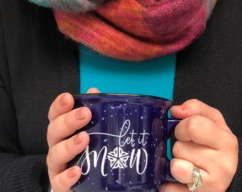 Let It Snow | Hand Lettered Camper Mug | Flower City, Rochester, NY