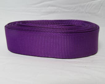 "Grosgrain ribbon 5/8"" purple sold by the yard"