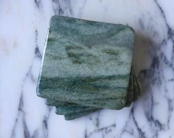 Natural Stone Coasters | Set of 4