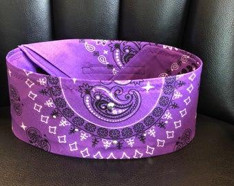 Purple rhinestone bandana