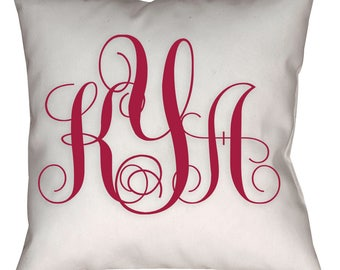 Custom Monogram pillow, Personalized pillow, Custom pillow, Customized throw pillow, Monogram pillow,  gift idea, home gift, new home gift