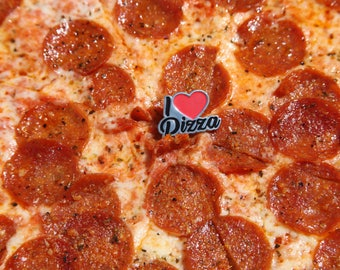I Love Pizza Lapel pin