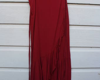 Beautiful red flamenco / Mexican  style wrap skirt -  Size Small