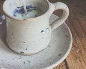 Candles in cups pottery f...