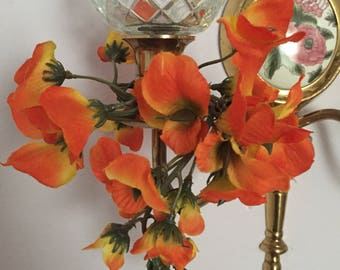 Candle rings for wall scounces  orange