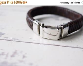 Summer Sale Personalised Chunky Leather Bracelet - FREE CUSTOM ENGRAVING