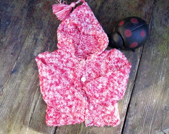 Baby Baby 6 months pink mottled cotton