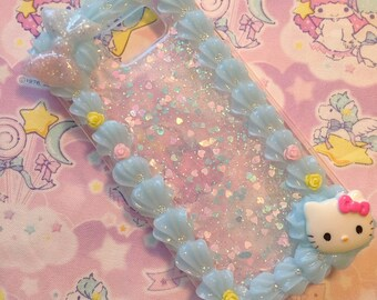 Galaxy Note 5 Decoden Phone Case with Blue Whip Border READY TO SHIP