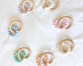 Teething ring, teething toy, modern teether, chewbeads
