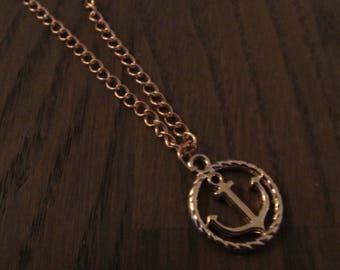 Necklace Anchor Rosé Gold