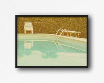 Swimming Pool Art, Beach House Decor, Retro Poster, Swimming Pool Decor, Printable Art, Wall Art, Art Print, Wall Prints, Modern, Beach, Art