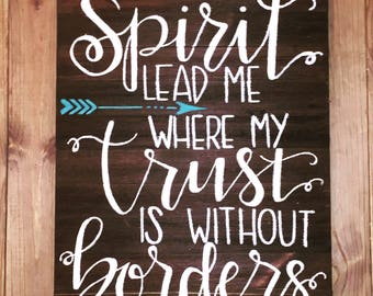 Spirit Lead Me (Original Wood Art)