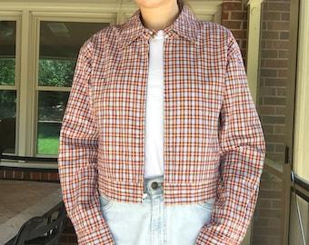 90s Gap Plaid Cropped Jacket